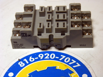 <b>Square D - </b>8501-NR82 Front Wired Relay Socket